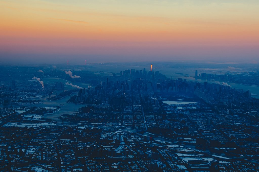 Cold morning above NYC #01