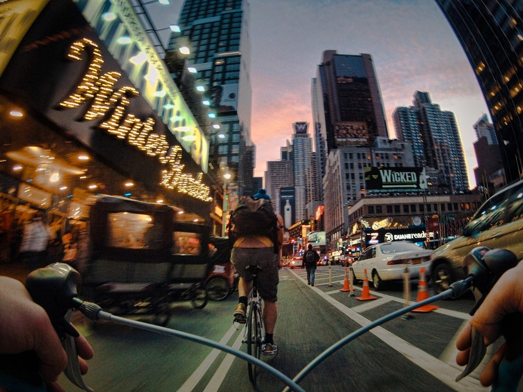 New York City through the eyes of a road bicycle